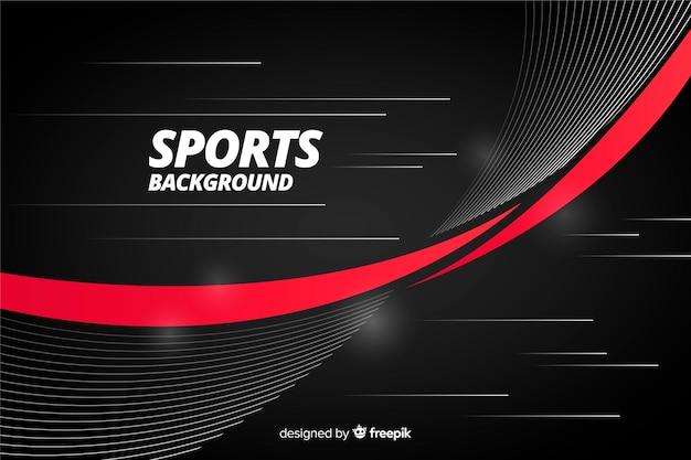 Fundo abstrato esporte com listra vermelha Vetor grátis