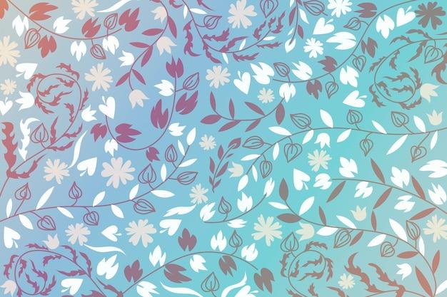 Fundo abstrato flores ornamentais Vetor grátis