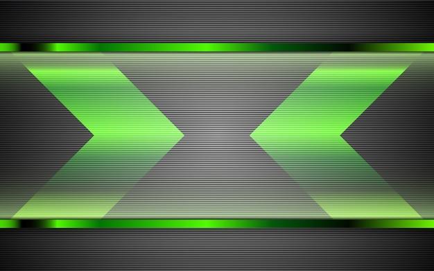 Fundo abstrato formas de metal verde Vetor Premium