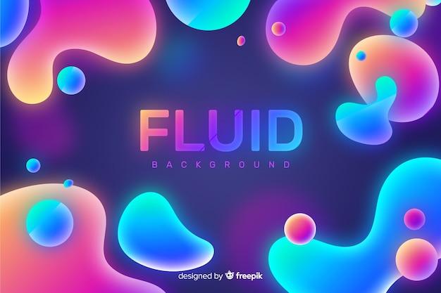 Fundo abstrato formas fluidas Vetor grátis