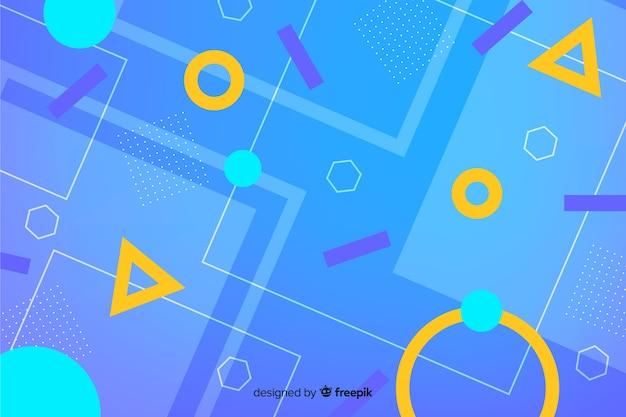 Fundo abstrato formas geométricas Vetor grátis