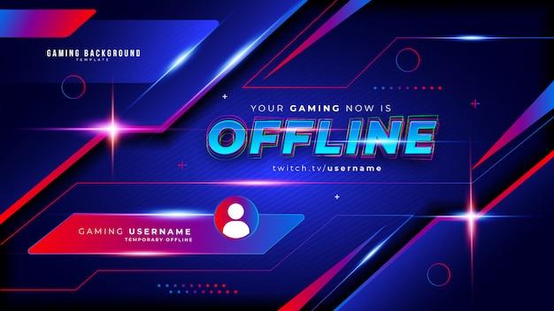 Fundo abstrato futurista de jogos para fluxo offline do twitch Vetor grátis