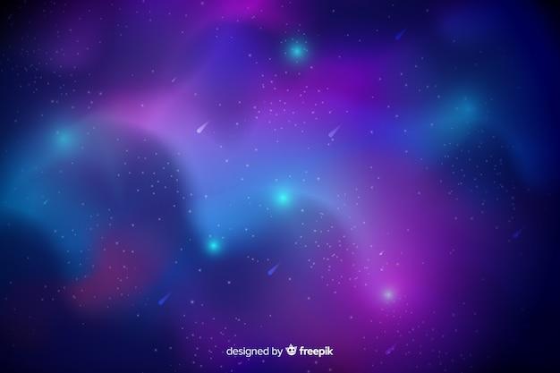 Fundo abstrato galáxia Vetor grátis
