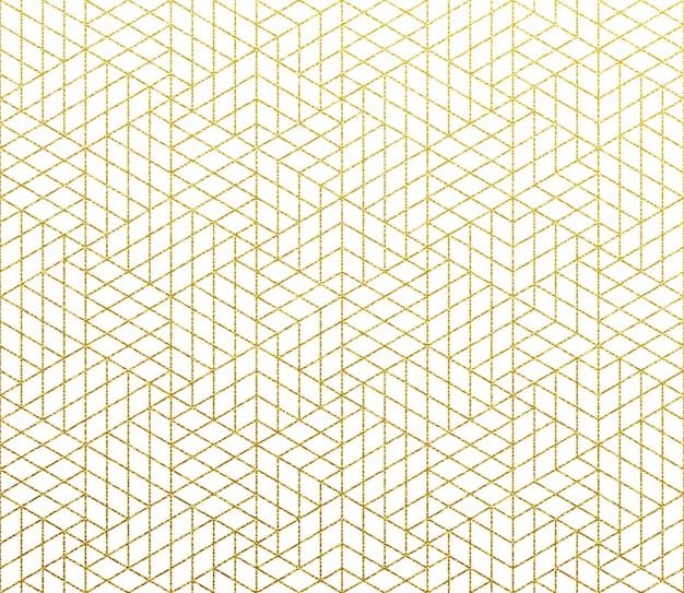 Fundo abstrato geométrico padrão ouro Vetor Premium
