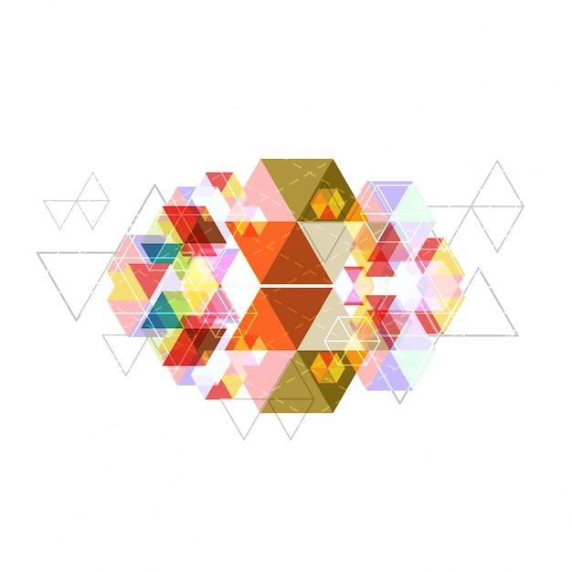 Fundo abstrato geométrico Vetor grátis