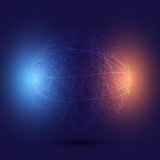 Fundo abstrato globo de wireframe Vetor grátis