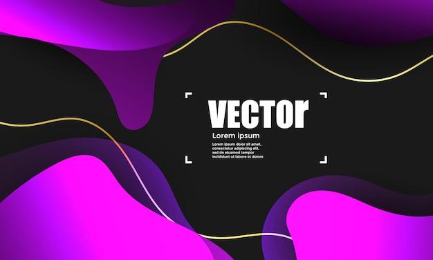 Fundo abstrato gradientes roxo. ilustração vetorial colorida Vetor Premium