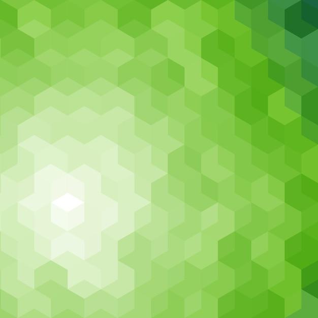 Fundo abstrato hexagonal verde Vetor Premium