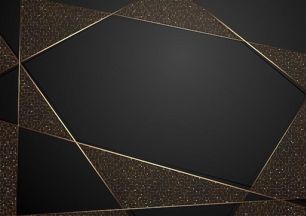 Fundo abstrato luxo preto Vetor Premium