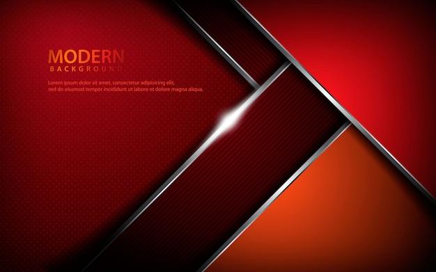 Fundo abstrato metálico vermelho Vetor Premium