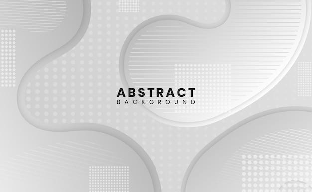Fundo abstrato moderno branco e cinza padrão pontilhado gradiente cor curva forma design Vetor Premium