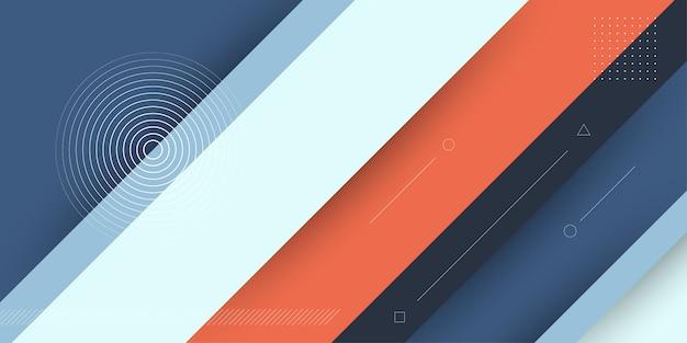 Fundo abstrato moderno com listra 3d diagonal ou elementos do papercut e cor pastel. Vetor Premium