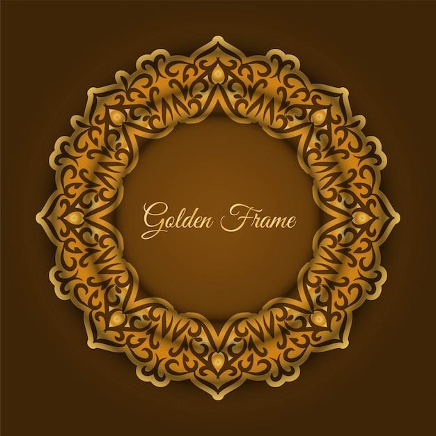 Fundo abstrato moldura dourada de luxo Vetor grátis