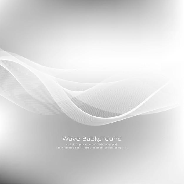Fundo abstrato onda elegante cinza Vetor grátis