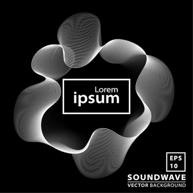 Fundo abstrato onda sonora Vetor Premium