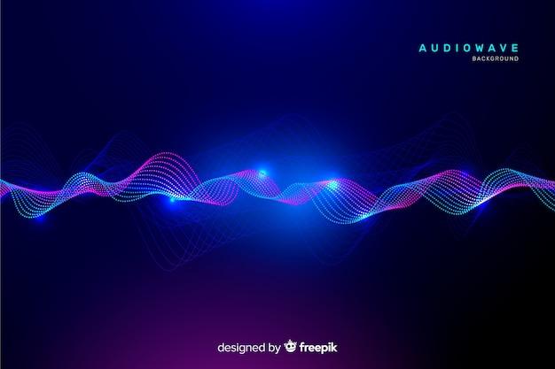 Fundo abstrato ondas de equalizador Vetor grátis