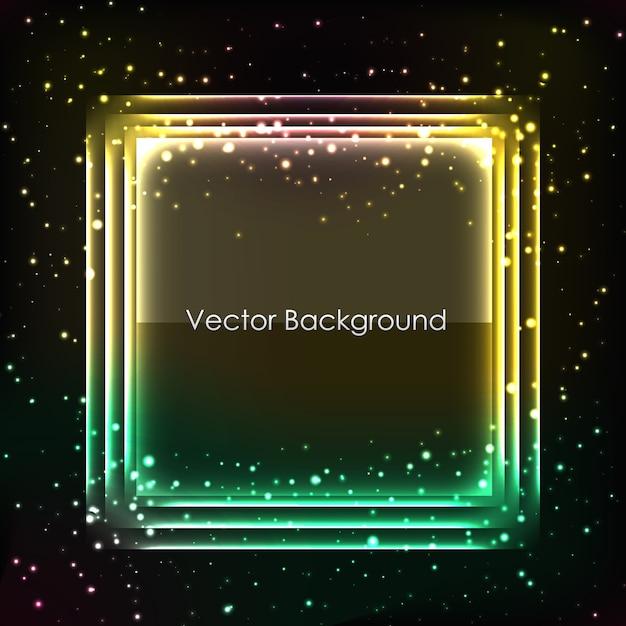Fundo abstrato para design com moldura brilhante Vetor grátis