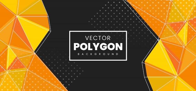 Fundo abstrato polígono Vetor Premium
