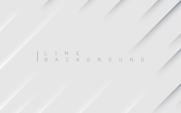 Fundo abstrato premium de linha diagonal com sombra clara e escura Vetor Premium
