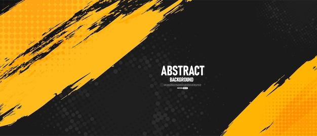 Fundo abstrato preto e amarelo Vetor Premium