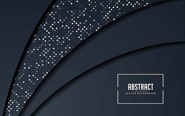 Fundo abstrato preto e cinza com brilhos de prata Vetor Premium
