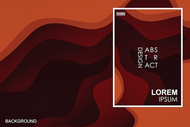 Fundo abstrato retrô vermelho escuro Vetor Premium