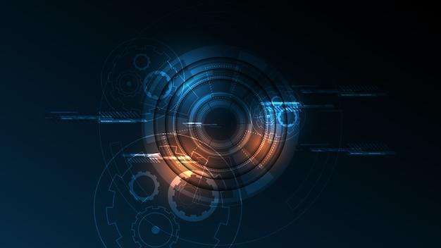 Fundo abstrato tecnologia conceito de comunicação de alta tecnologia Vetor Premium