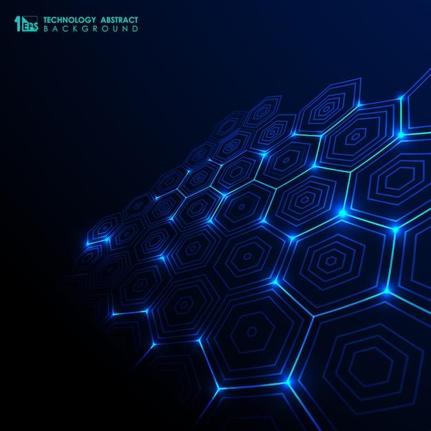 Fundo abstrato tecnologia futurista. Vetor Premium