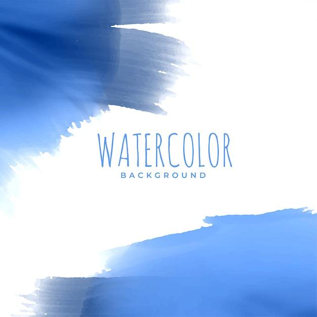 Fundo abstrato textura aquarela azul Vetor grátis