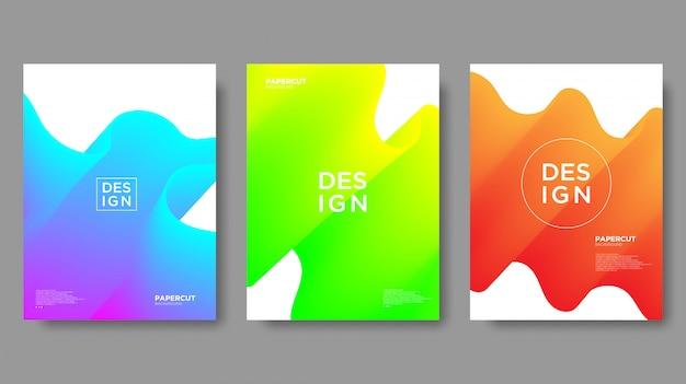 Fundo abstrato, textura gradiente e estilo moderno Vetor Premium