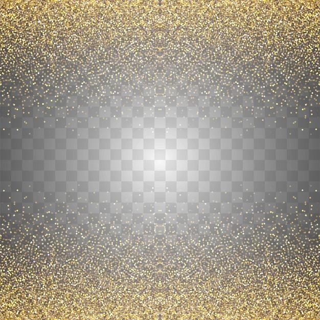 Fundo abstrato transparente brilhos dourados Vetor grátis
