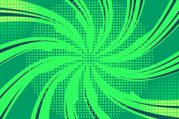 Fundo abstrato verde de meio-tom Vetor Premium