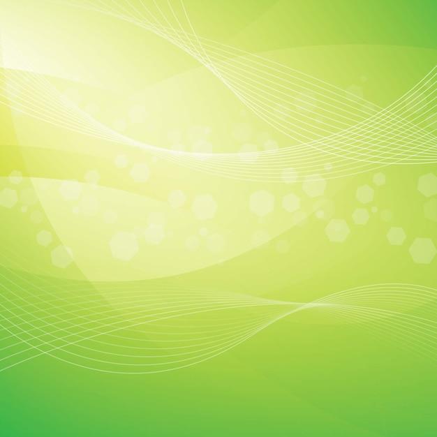 Fundo abstrato verde Vetor Premium