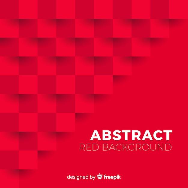 Fundo abstrato vermelho com estilo elegante Vetor grátis