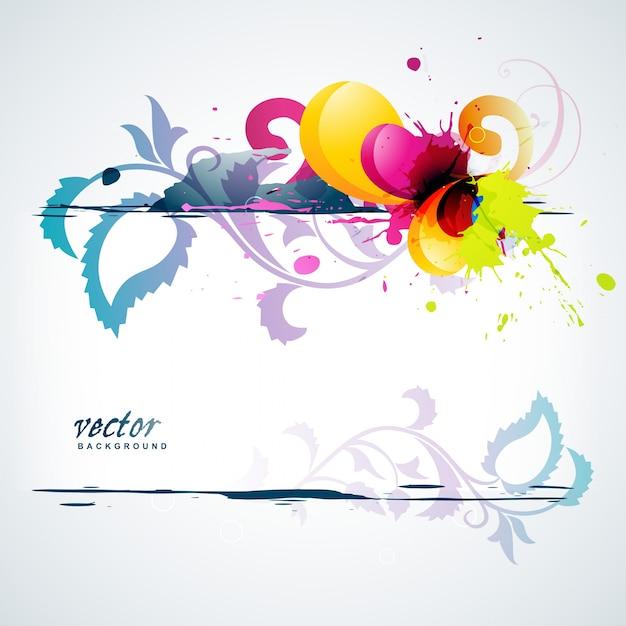 fundo abstrato Vetor Premium