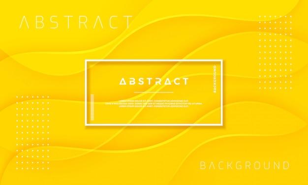 Fundo amarelo abstrato, dinâmico e texturizado. Vetor Premium