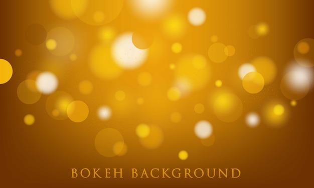 Fundo amarelo bokeh, abstrato, textura leve Vetor Premium