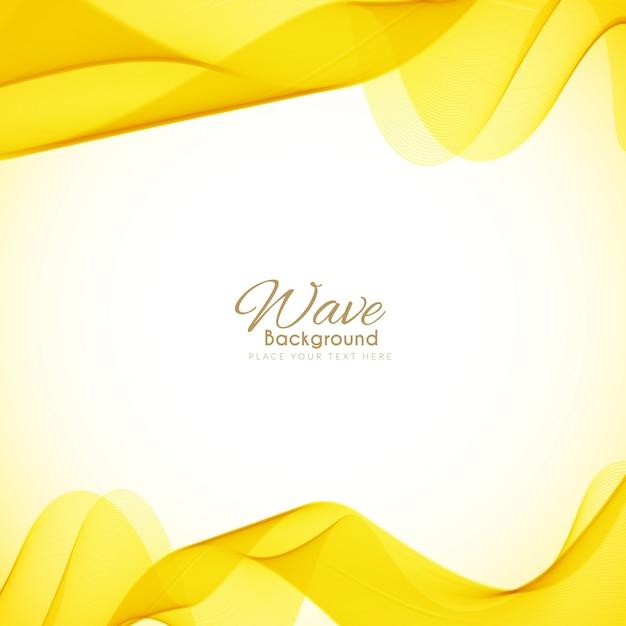 Fundo amarelo brilhante da onda Vetor grátis