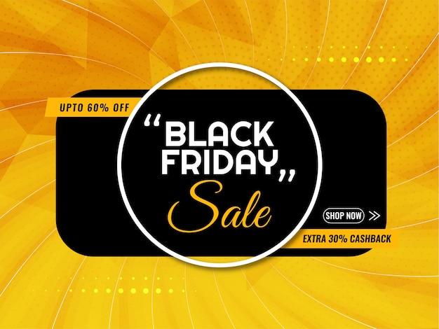 Fundo amarelo brilhante preto de venda sexta-feira Vetor grátis