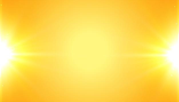 Fundo amarelo com efeito de luz brilhante brilhante Vetor grátis