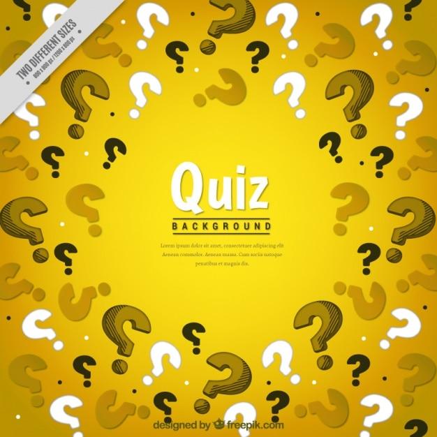 Fundo amarelo com pontos de interrogação Vetor grátis
