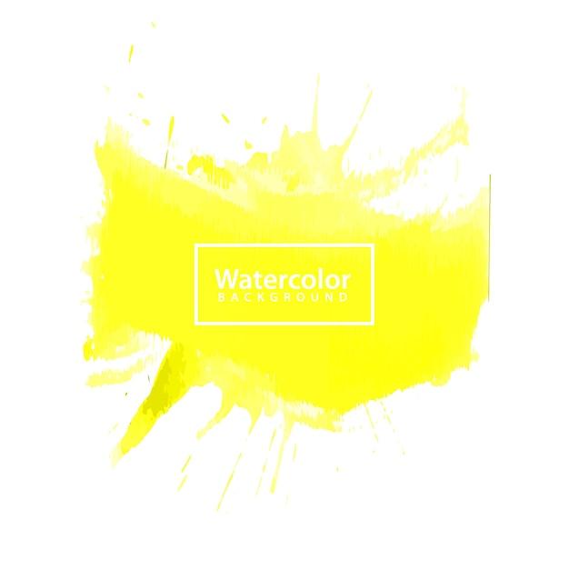 Fundo amarelo da aguarela, eps 10 Vetor Premium