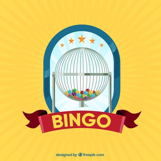 Fundo amarelo do bingo Vetor grátis