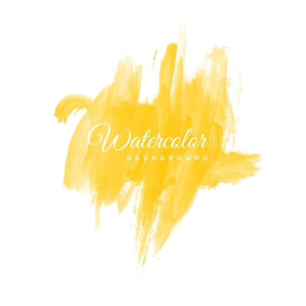 Fundo amarelo do curso da aguarela para o cabeçalho Vetor Premium