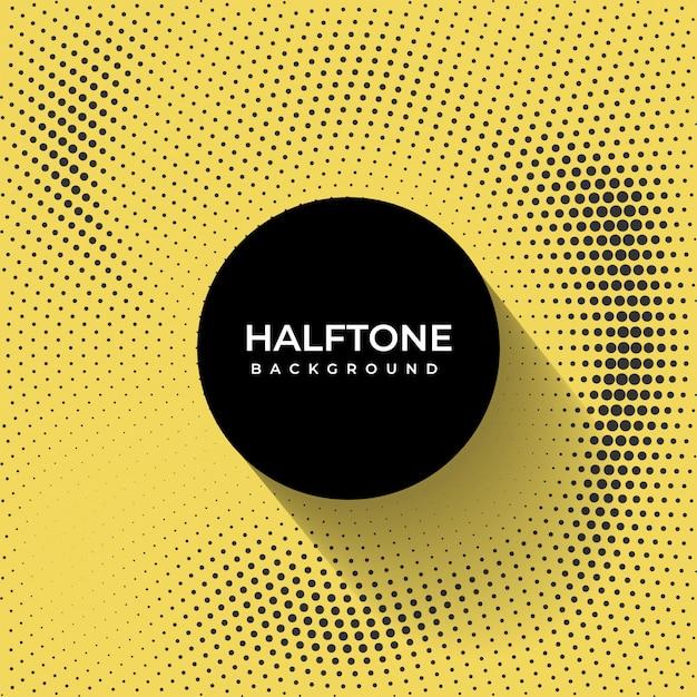 Fundo amarelo e preto haltone Vetor Premium