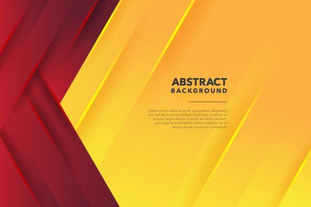 Fundo amarelo vermelho abstrato geométrico moderno Vetor Premium