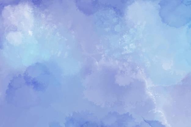 Fundo aquarela com manchas azuis Vetor Premium