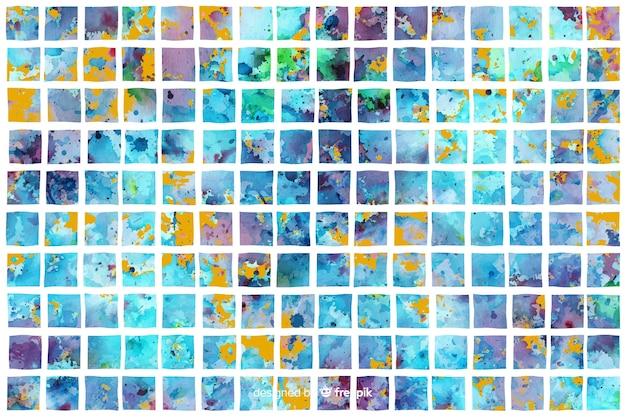 Fundo aquarela em estilo mosaico Vetor grátis