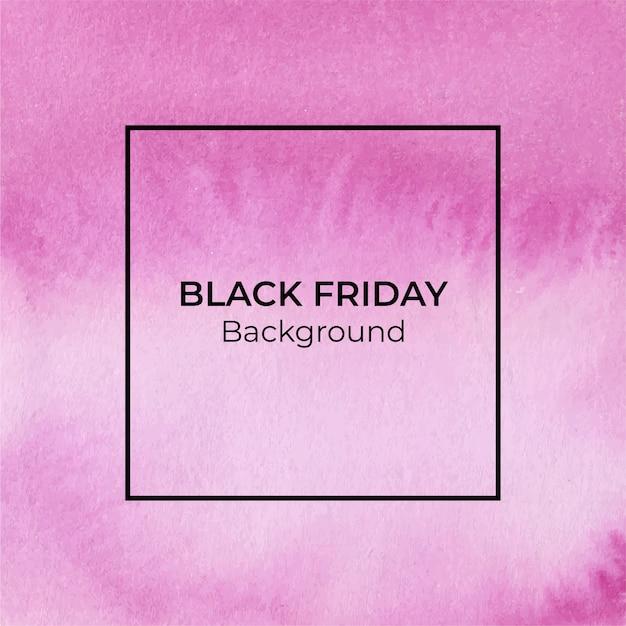 Fundo aquarela magenta de sexta-feira negra Vetor Premium