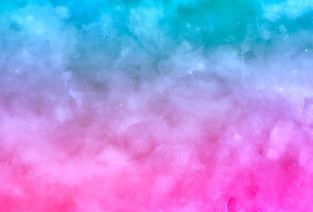 Fundo aquarela onírico azul e rosa Vetor grátis